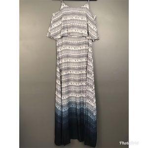 Anthro Blu Pepper Ombré Maxi Dress